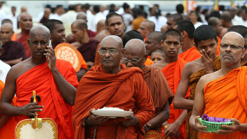 Buddhist monk protest