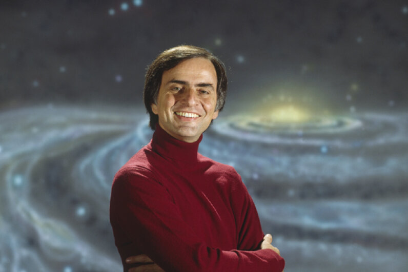 "Sagan co-developed and hosted the hit show ""Cosmos: A Personal Voyage."" © Tony Korody/Sygma/Corbis"