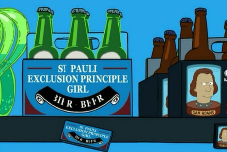"We love all of the science humor  in ""Futurama,"" and also the reassurance that Sam Adams is still remembered as a brewer and patriot in the year 3000. Screen capture by HowStuffWorks staff"