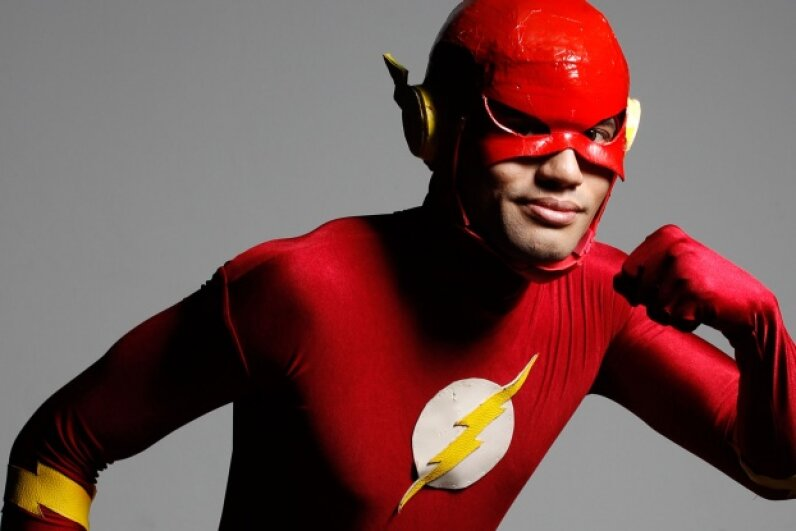 OK, OK, this cosplayer can't shift through matter, but the animated Flash could. © EDGAR SU/Reuters/Corbis