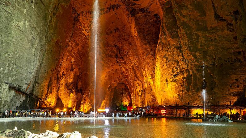 Tenglong Cave, China