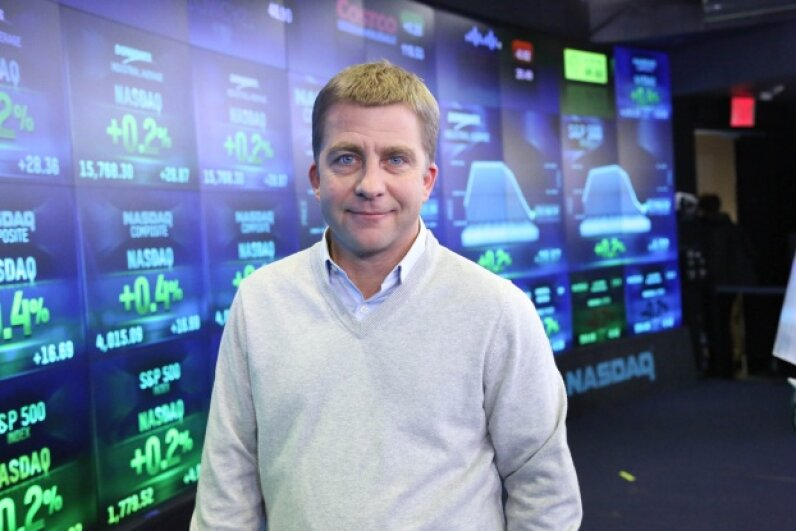 Peter Billingsley ringing the NASDAQ opening bell on December 13, 2013 in New York City. © Rob Kim/Getty Images