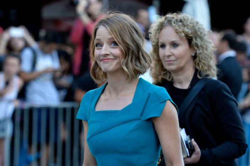 "Jodie Foster arrives at the premiere of ""Elysium"" in August 2013.  ©Frazer Harrison/Getty Images"