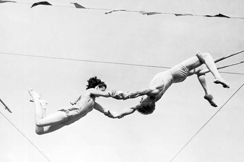 Ernestine Clarke (not shown) was a bareback rider and trapeze artist in the 1940s; she was inducted into the International Circus Hall of Fame in 1967. Underwood Archives/Getty Images