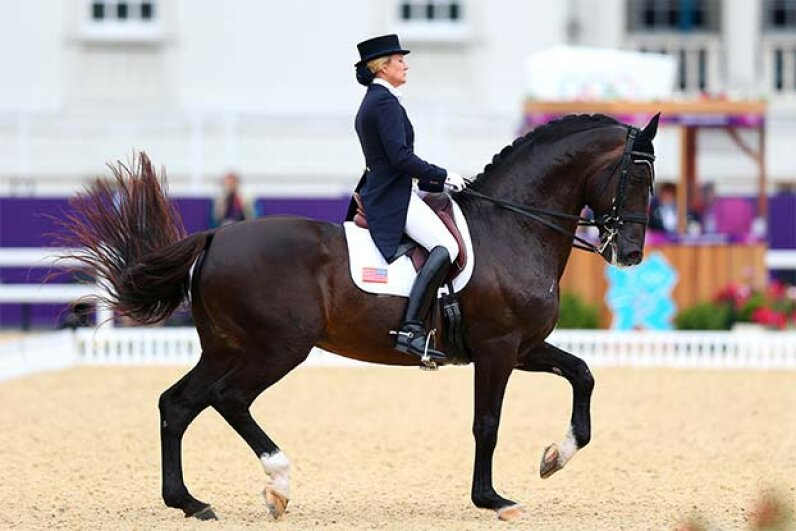 Tina Konyot, a member of the famous equestrian Konyot family, competes for the U.S. in the 2012 Olympics in London. Alex Livesey/Getty Images