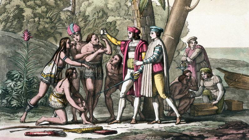Christopher Columbus, Taino