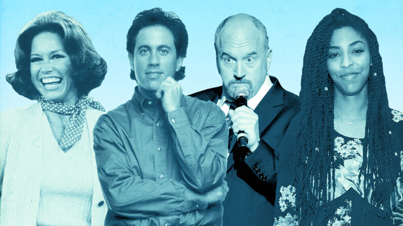 Mary Tyler Moore, Jerry Seinfeld, Louis C.K. and Jessica Williams