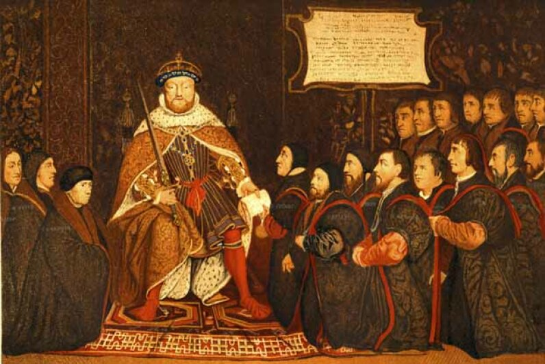 "King Henry VIII, originator of the phrase ""all intents and purposes."" Steven Wynn/E+/Getty Images"