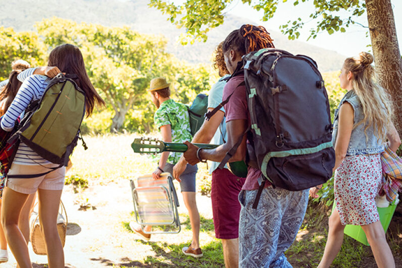 Going to a concert rather than a multi-day festival? You probably don't need to pack -- and then knock people over with -- the world's biggest backpack. 4774344sean/iStock/Thinkstock