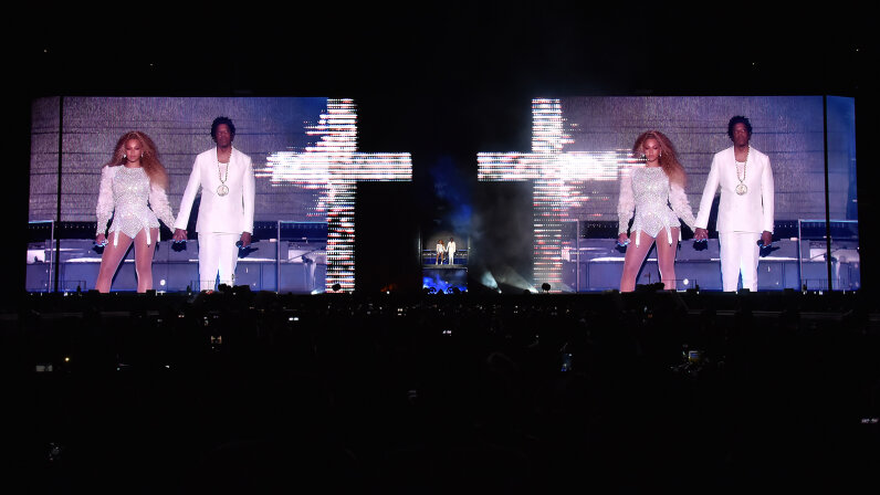 Beyonce and Jay-Z concert