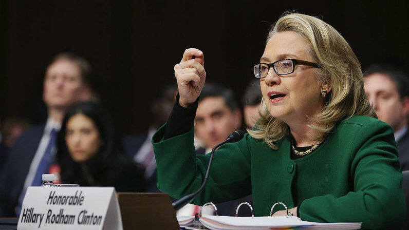 U.S. Secretary of State Hillary Clinton testifies before the Senate Foreign Relations Committee on Capitol Hill Jan. 23, 2013. Lawmakers questioned Clinton about the security failures during the attacks against the U.S. mission in Benghazi, Libya. Chip Somodevilla/Getty Images