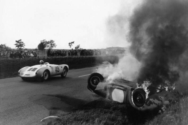 The 24-hour race at Le Mans in 1955 ended in tragedy when dozens of people died because of Pierre Levegh's wreck. Keystone-France/Gamma-Keystone via Getty Images