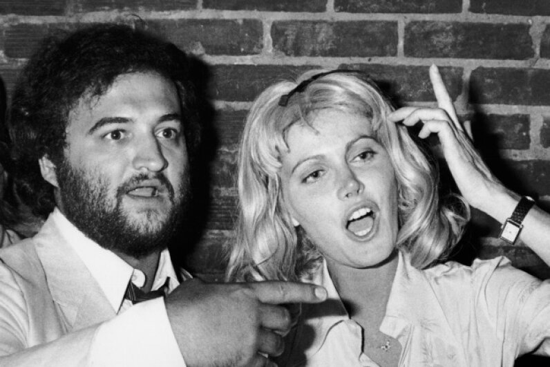 "John Belushi with wife Judith poses at the premiere party for ""Animal House,"" a project that wasn't as ill-fated as ""Atuk"" would prove to be. Ron Galella, Ltd./WireImage/Getty Images"
