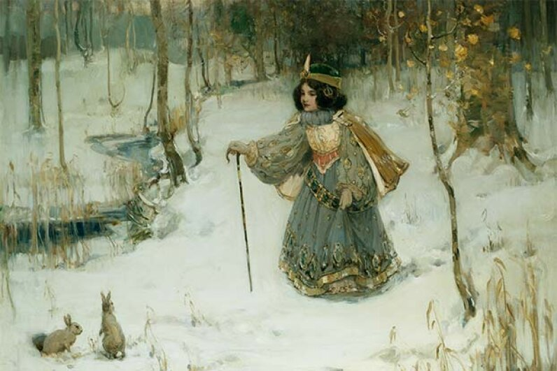 This painting titled 'The Snow Queen' was done by Thomas Bromley Blacklock. © Fine Art Photographic Library/CORBIS