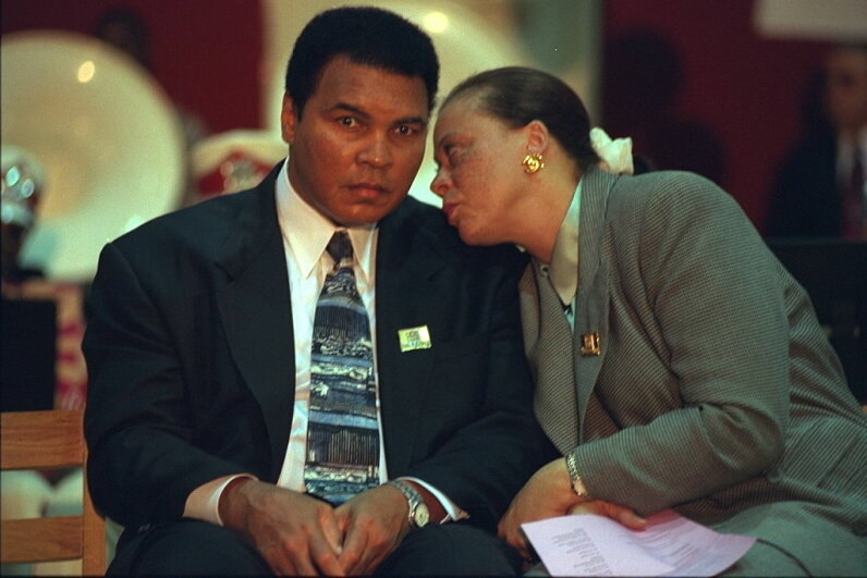 Boxer Muhammad Ali, who had Parkinson's disease for years, is shown with his wife Yolanda Ali at an event. Axel Koester/Sygma/Sygma via Getty Images