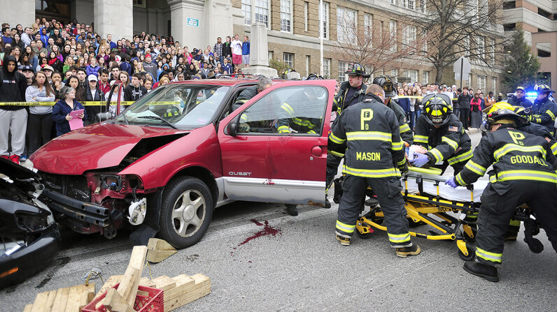SADD simulated accident