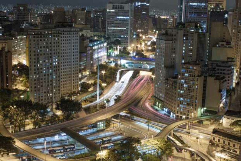 A glimpse of the Sao Paulo city center. Brazil is the world's sixth largest economy. iStockphoto/Thinkstock