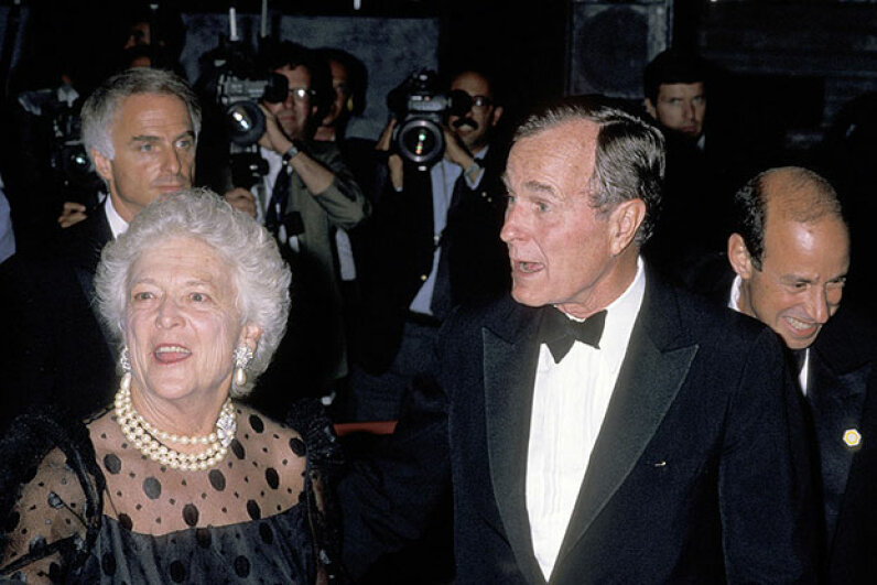 Both President George H.W. Bush and his wife Barbara Bush were diagnosed with Graves' disease, an immune disorder that results in hyperthyroidism. Ron Galella/WireImage/Getty Images