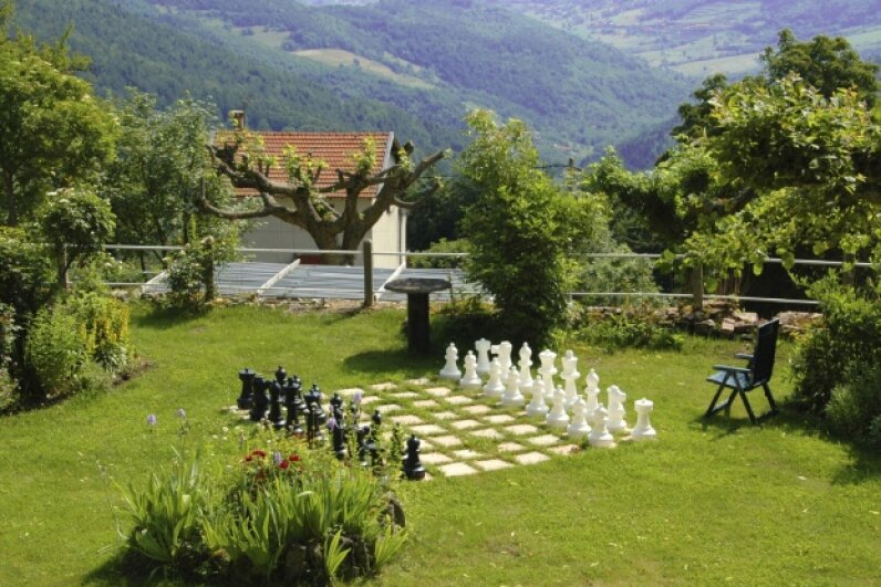 If you find you really love lawn chess, you might find yourself thinking about a permanent  installation.  ©iStockphoto.com/DigiStu