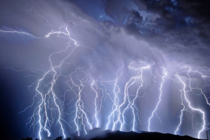 Dogs can smell the ozone of lightning before you can see the flash. © valdezrl/iStockphoto