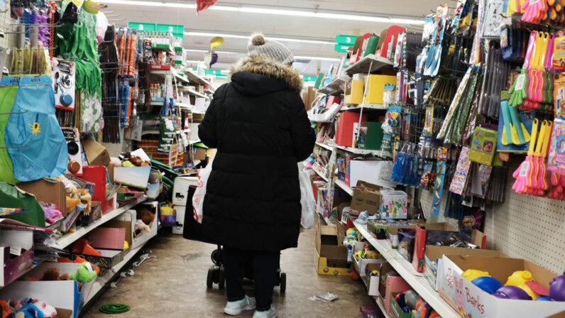 dollar store shopper