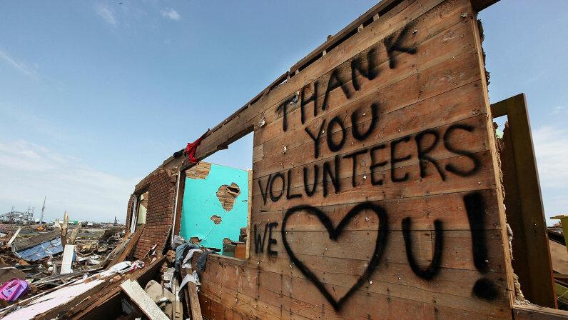 Tornado, Joplin, Mo. Volunteer thankyou