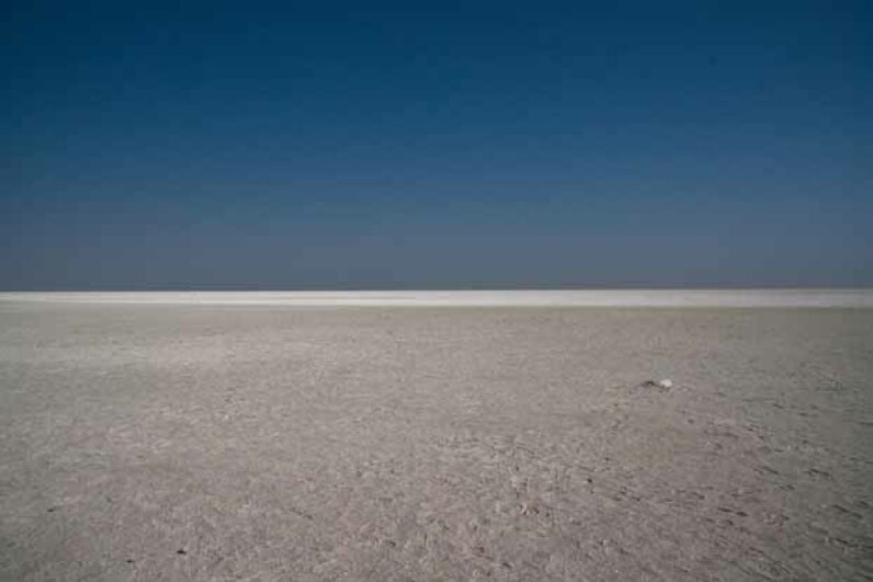 The Etosha Pan is the largest salt pan in Africa and is even visible from space. Romulo Rejon/Flckr/Getty Images