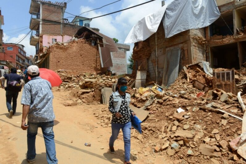 Nepal was hit hard by earthquake activity in the first half of 2015. ©PRAKASH MATHEMA/AFP/Getty Images