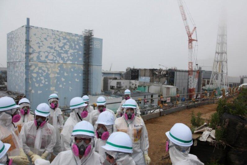 A tsunami triggered the Fukushima Daiichi nuclear disaster in 2011. © Pallava Bagla/Corbis