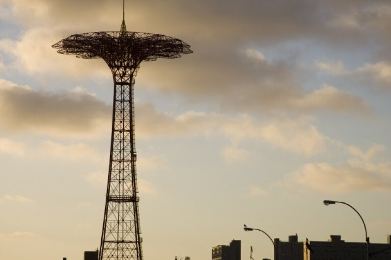 Shock absorbers aren't just for cars. If you were going on Coney Island's Parachute Jump back in the day, you would have been glad to see the shock absorbers resting at the bottom, ready to soften your landing. iStockphoto/Thinkstock