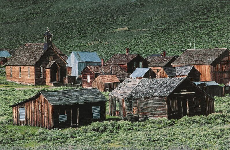 About 100 structures are still standing in Bodie, a Western ghost town. DeAgostini/Getty Images