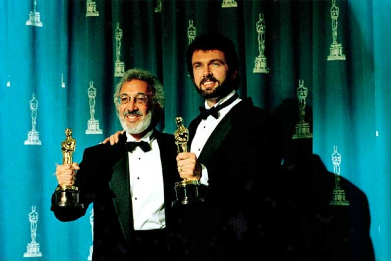 Stan Winston (left) and Jeff Dawn took home Oscars for their work in 'Terminator 2: Judgement Day' in 1992. Photoshot/Getty Images