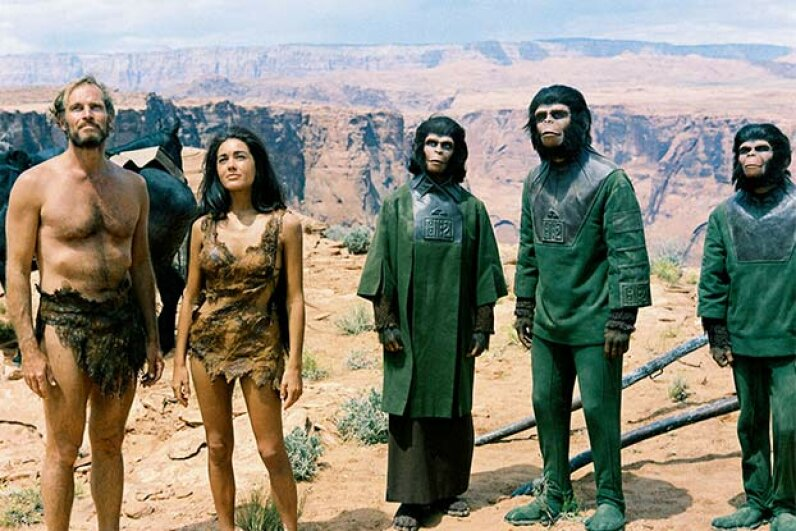 Makeup creator John Chambers said he deliberately modified the simian features of the apes to make them more attractive. Silver Screen Collection/Getty Images