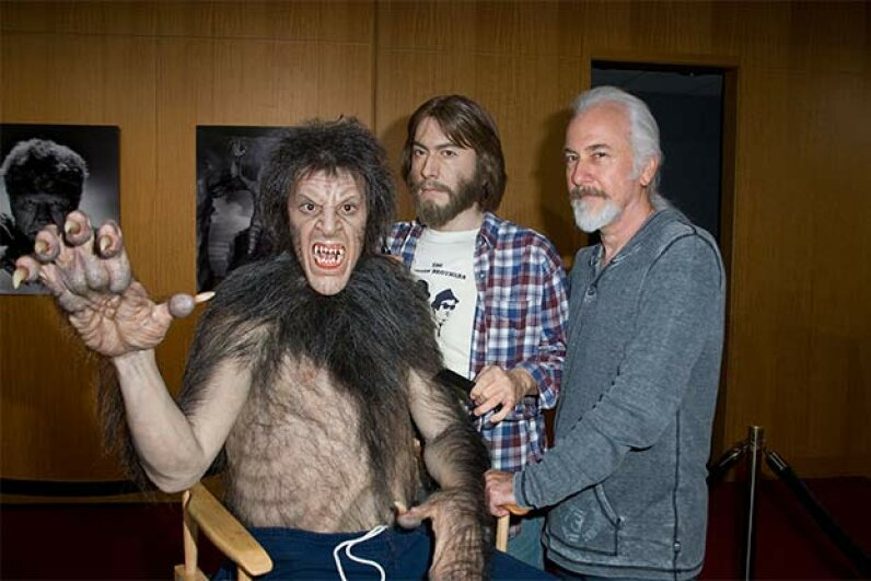 Make-up artist Rick Baker attends 'Universal's Legacy Of Horror' in 2012 and meets up with a younger version of himself working on 'An American Werewolf in London.' Vincent Sandoval/FilmMagic
