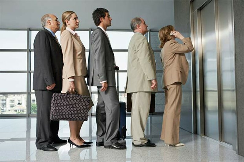 When there's a huge crowd waiting, you should form a line. Fuse/Thinkstock