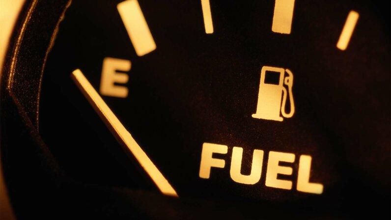 fuel gauge, empty