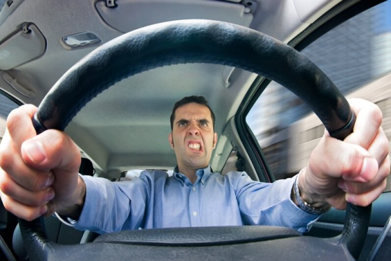 You can white-knuckle that steering wheel all you want, but if it's shaking like crazy, you may want to get your ride checked out. iStockphoto/Thinkstock