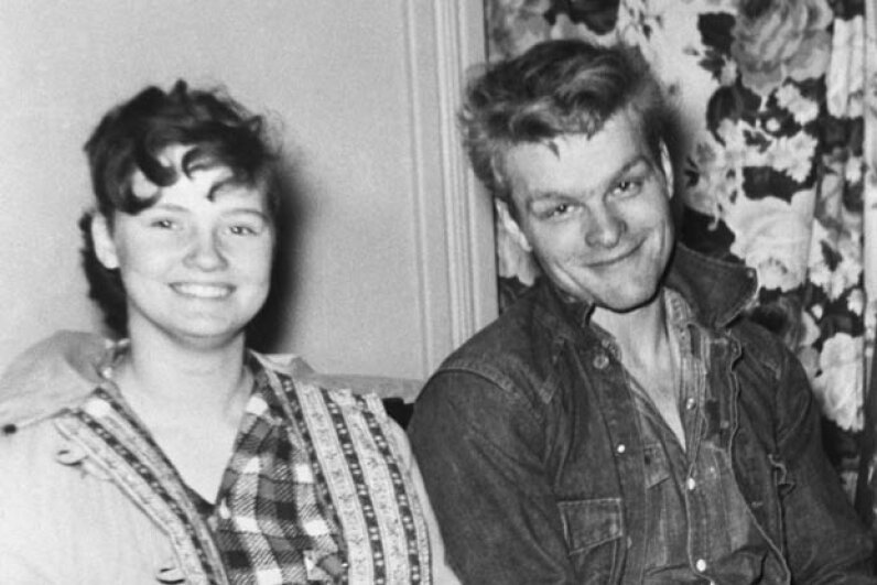 Charles Starkweather and his 14-year-old girlfriend Caril Fugate. Starkweather killed 11 people, including her mother, step-father and sister, while they were together.  Fugate was sentenced to life imprisonment but was later paroled. © Bettmann/CORBIS