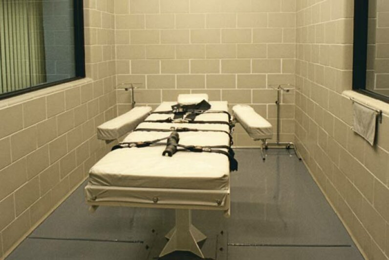 A lethal injection chamber like the one David Autry faced for his execution. Edward McCain/Workbook Stock/Getty Images