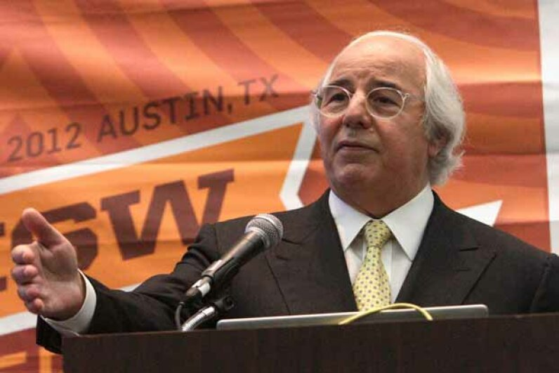 "Frank Abagnale speaks onstage at the event ""Catch Me If You Can: Frank Abagnale 10 Years Later"" during the 2012 SXSW Festival. Bobby Longoria/WireImage/Getty Images"