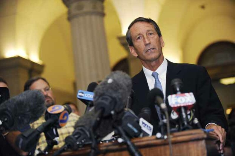 When South Carolina Gov. Mark Sanford disappeared from home with no explanation, he said he had gone to hike the Appalachian Trail.  But he wasn't very convincing. He later confessed he had flown to Argentina to meet his mistress. Davis Turner/Getty Images