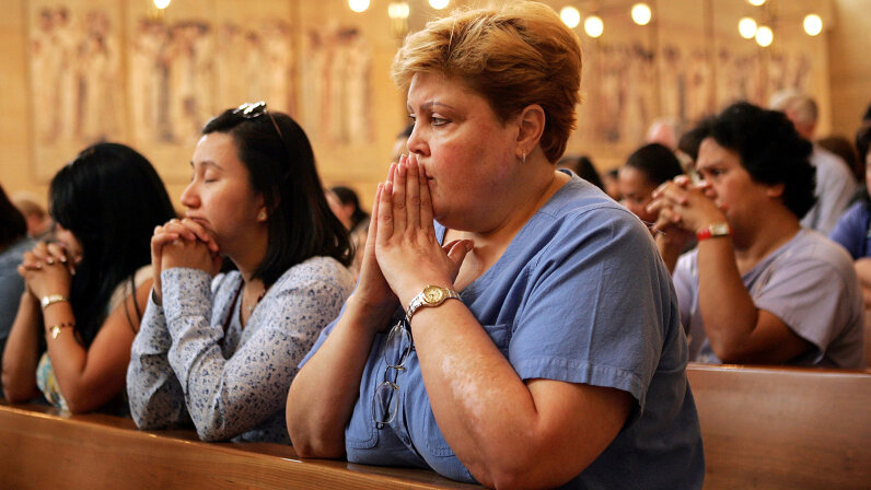 Several studies have explored the effects of prayer on illness, but studying the supernatural has proved difficult, to say the least. David McNew/Getty Images