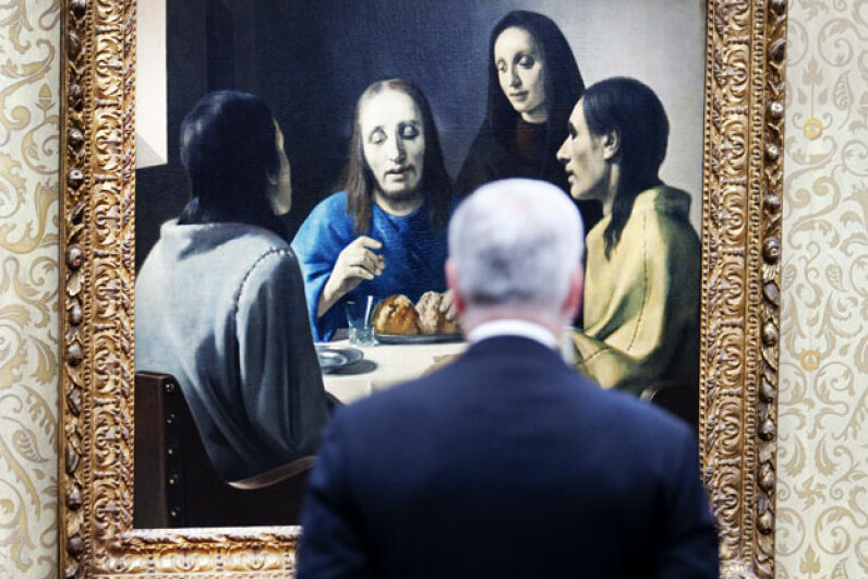 Van Meegeren's forgeries have become so famous that the Van Beuningen Museum in the Netherlands had an exhibition of the faker's work in 2010.  © ROBIN UTRECHT/AFP/Getty Images