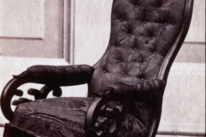 President Lincoln's chair remains on display at the Henry Ford Museum in Dearborn, Mich. © Medford Historical Society Collection/CORBIS