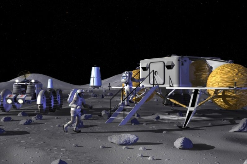 Well, yeah, of course we desperately want a moon base. Image courtesy NASA