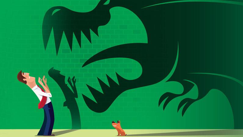 scary dog shadow