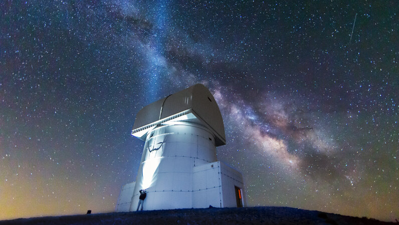 Could the Milky Way, seen here over the Aristarchos Telescope at the top of Chelmos Mountain in Achaia, Kalavryta, Greece, really be the only galaxy in the universe to sustain life? Alexandros Maragkos/Getty Images