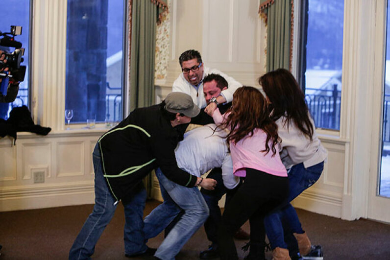 """A fight breaks out on """"The Real Housewives of New Jersey"""". Was it real or fake? Does it matter? Patrick Harbron/Bravo/NBCU Photo Bank via Getty Images"""