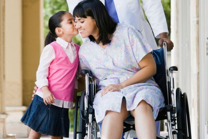 No one wants to think about it, but for your child's sake, you need to be financially prepared for the possibility that you could become chronically ill or disabled.  ©Thinkstock