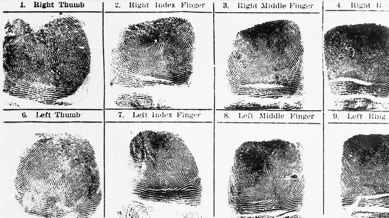 fingerprints, death